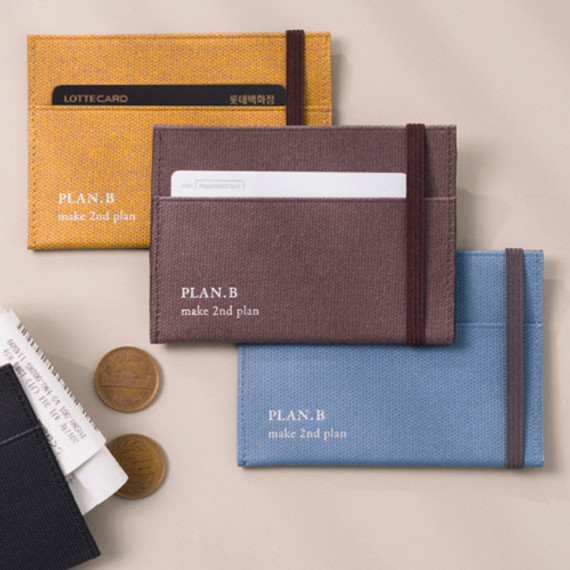Byfulldesign Oxford palm flat card case wallet