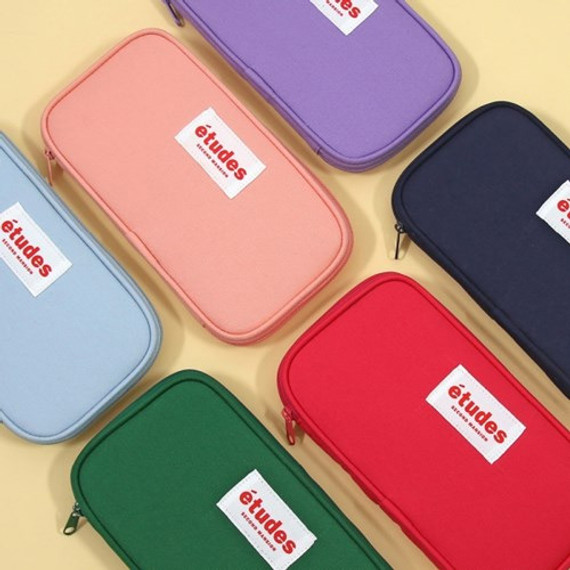Second Mansion Etudes zip around fabric pencil case pouch