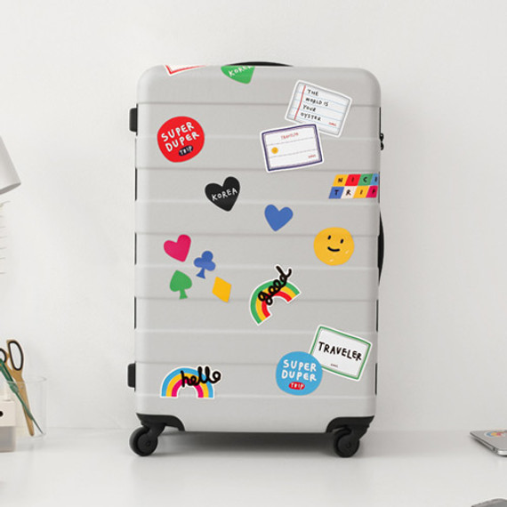 2NUL Traveler colorful luggage deco sticker set