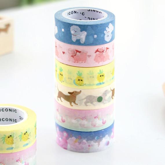 ICONIC Buddy pattern paper deco masking tape