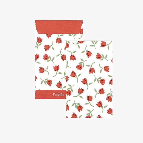 Dailylike Tiny tulip small card and envelope set
