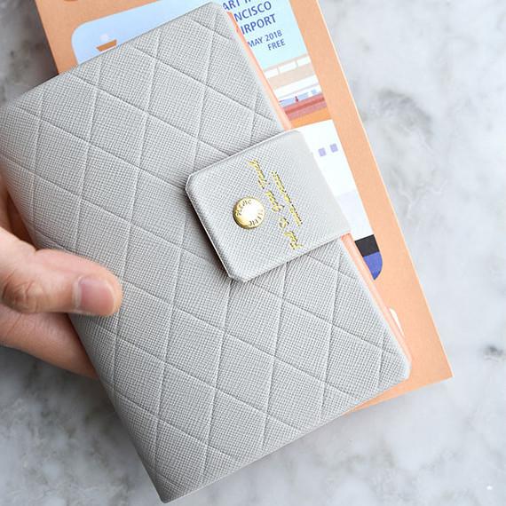 Play Obje Diamond pattern travel passport case holder