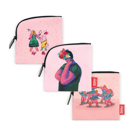 All new frame Yeonji Kang collection mini zipper pouch