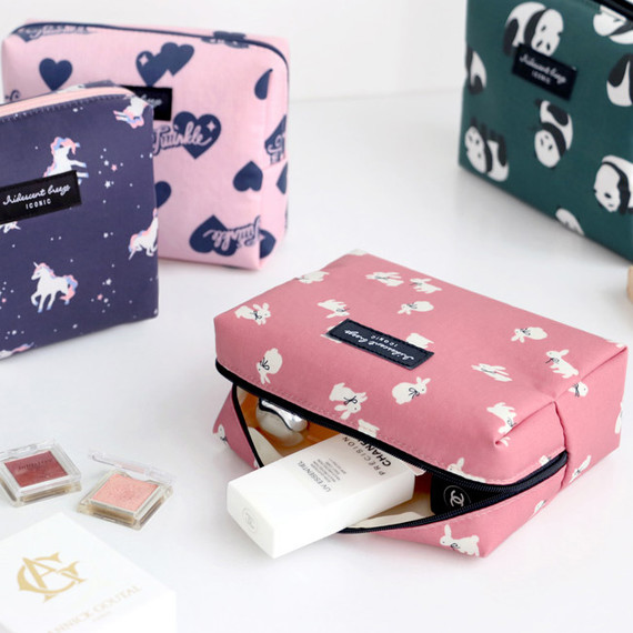 ICONIC Comely pattern makeup cosmetic pouch bag
