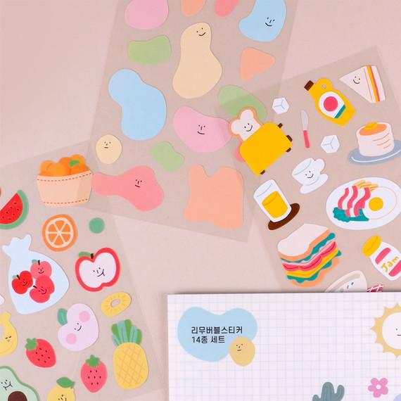 Rihoon Removable 14 sheets sticker set