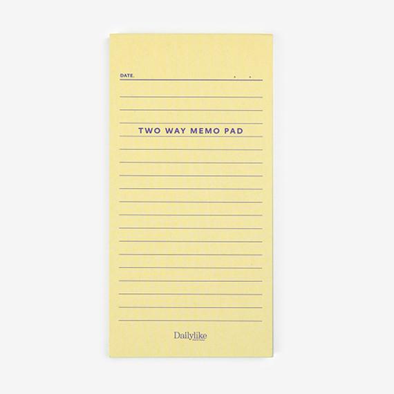 Dailylike Memo two way memo writing notepad