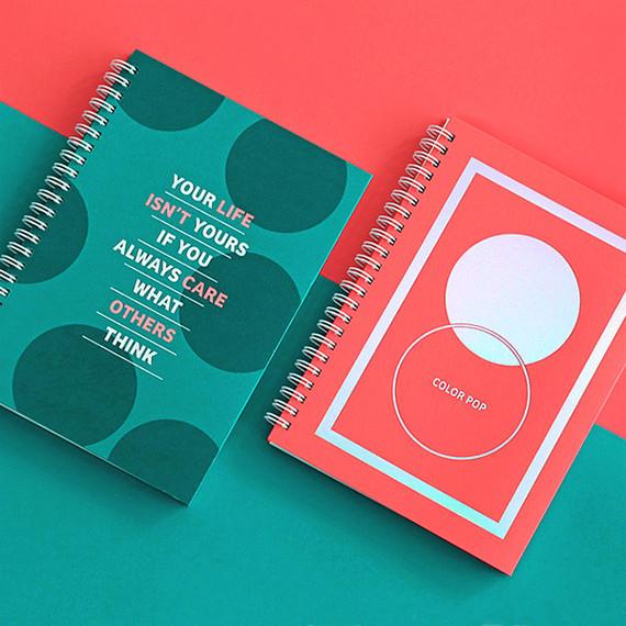 Indigo Color pop spiral bound dateless weekly planner