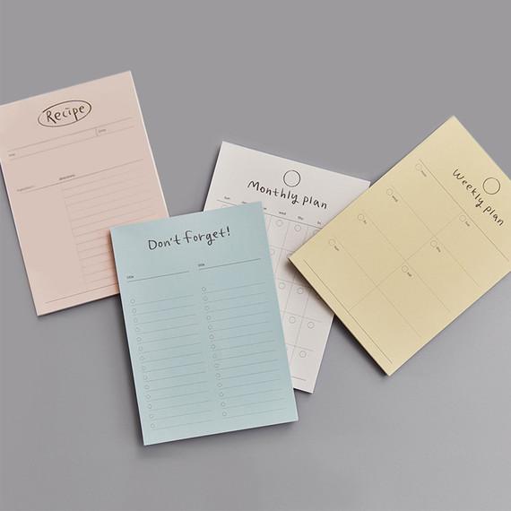Gyou Component B6 memo writing notepad