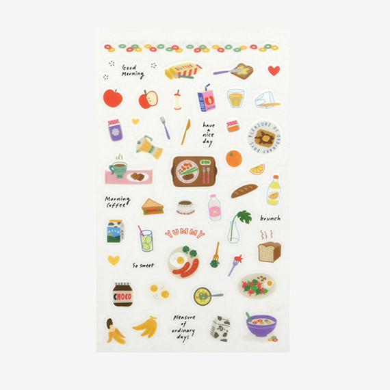 Dailylike Daily transparent deco cute sticker - Good morning