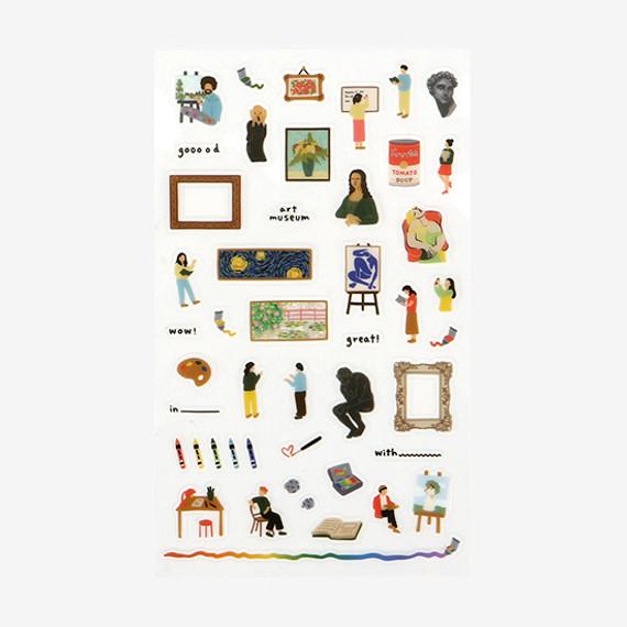 Daily transparent deco cute sticker - Art museum