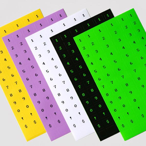 After The Rain 8-bit number paper sticker set