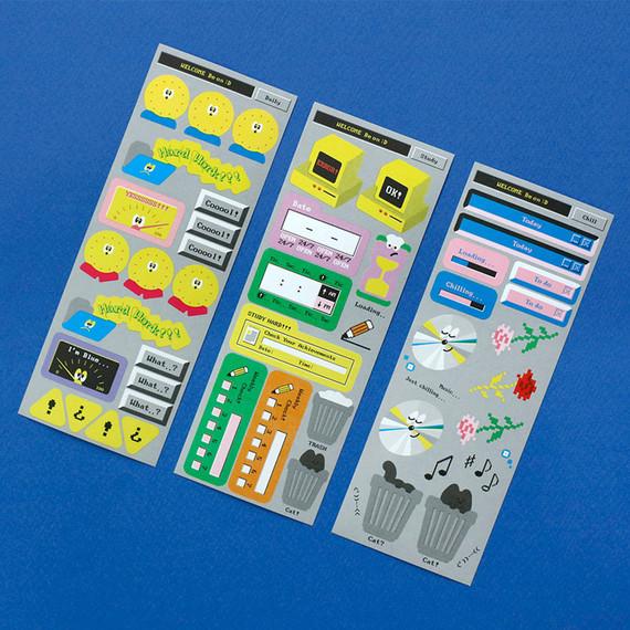 After The Rain 8-bit message seal paper sticker