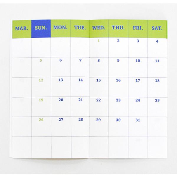 Pocket Calendar.2017 Paperpack Pocket Calendar Dated Diary Planner