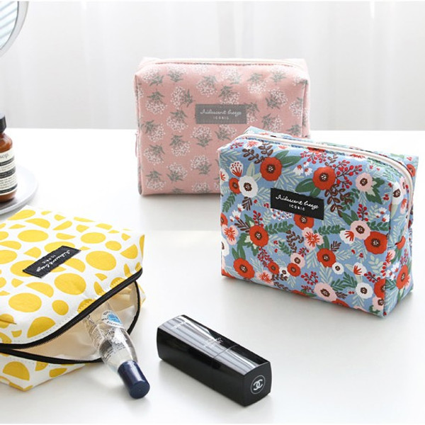 f14d87f7e311 Iconic Comely pattern makeup pouch bag ver.2