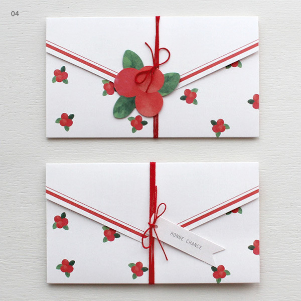 Gentle Wave Natural Letter Card With Gift Tags And String