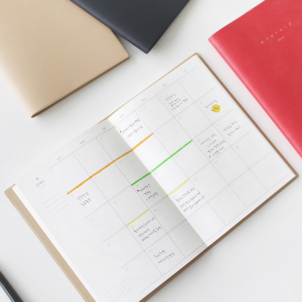 dash and dot 2018 simple record dated monthly planner scheduler