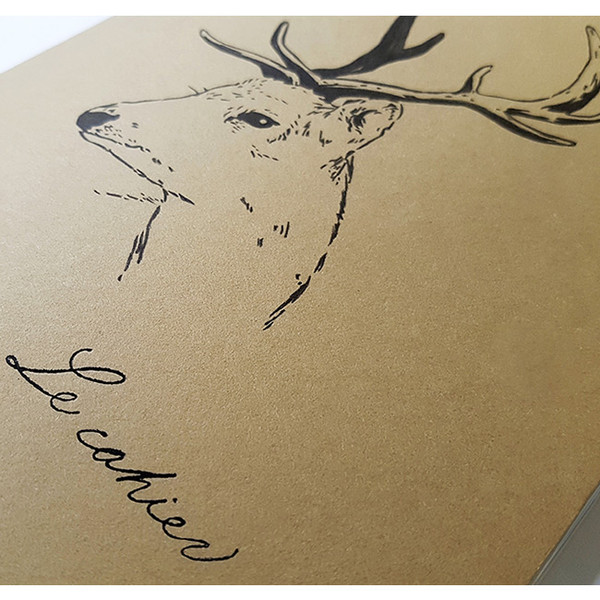 O Deer O-check Deer A5 size 3 square sections notebook