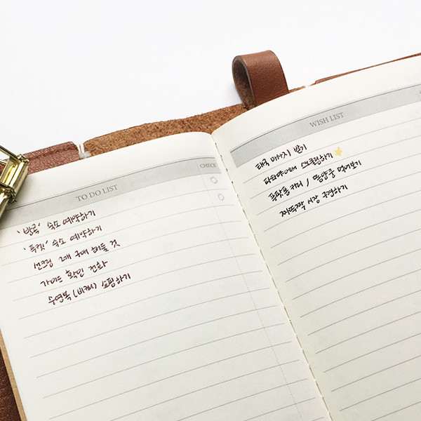 image relating to Daily Planner Notebook identified as Light-weight push each day planner laptop