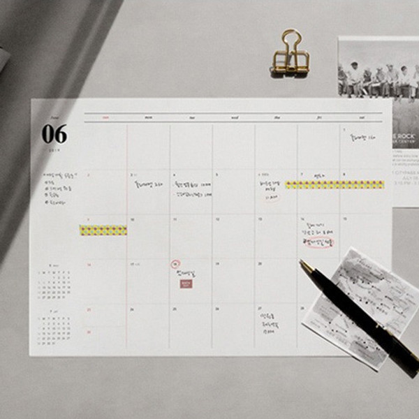 Gyou 2019 A Tous Moments Dated Monthly Desk Pad Planner