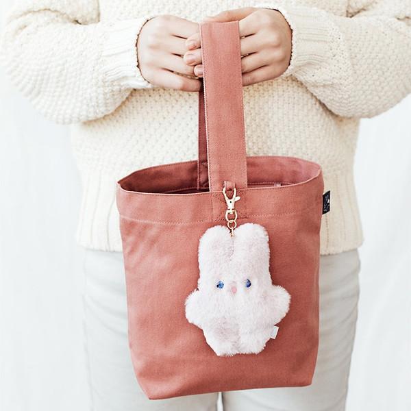 2a392e0d08d Piyo popuree cotton tote bag with cute doll charm