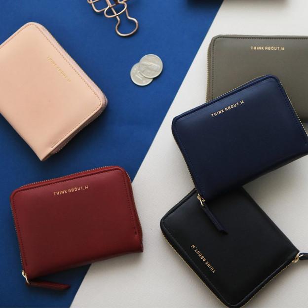 Think about accordion zip around card wallet