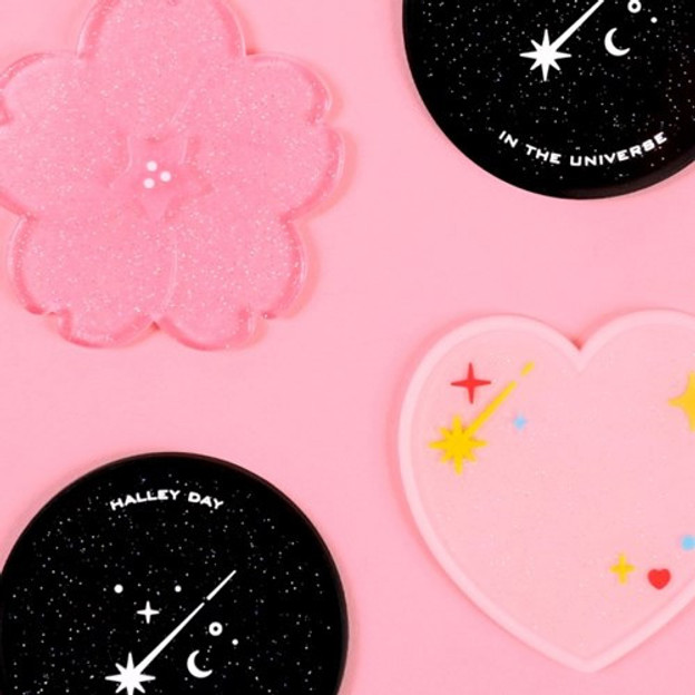 After The Rain 90s coolkids party PVC twinkle drink coaster