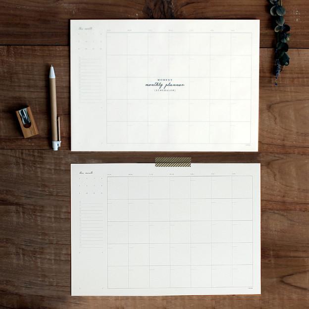 DBD Moment dateless monthly desk planner scheduler pad