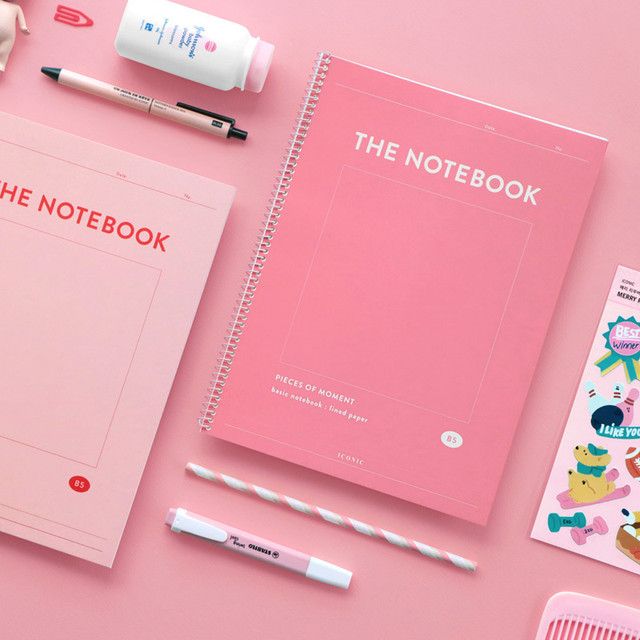 ICONIC Pieces of moment basic spiral B5 lined notebook