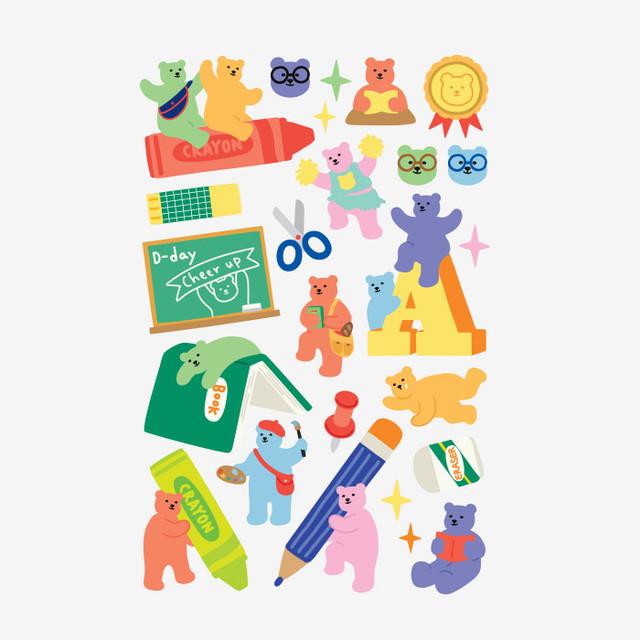 Dailylike Jelly bear Study paper removable sticker