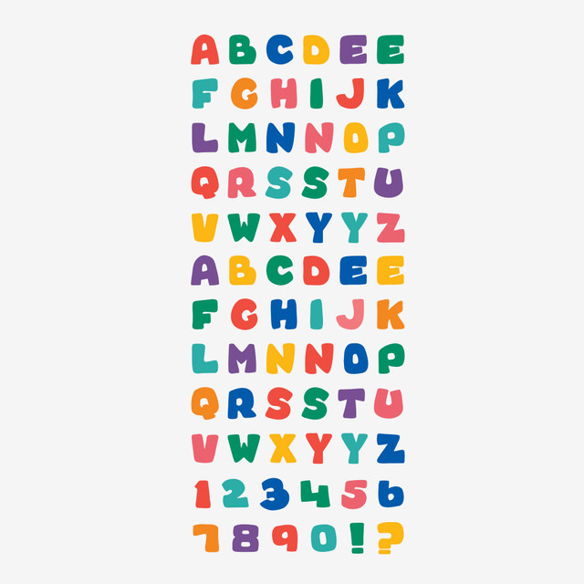 Dailylike Alphabet removable paper diary deco sticker seal