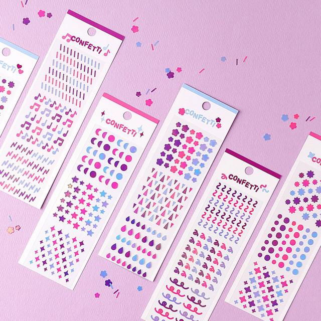 Wanna This Confetti aurora pearl mini deco sticker 02