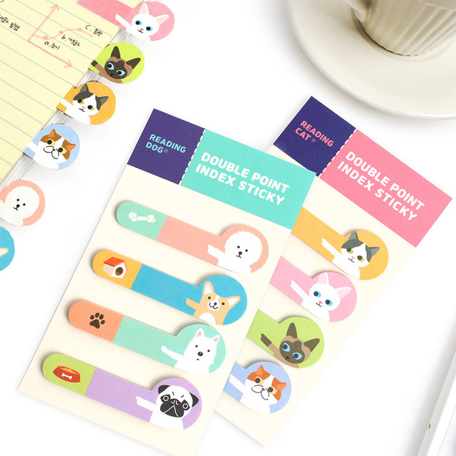 Bookfriends Reading pet double point index sticky bookmark