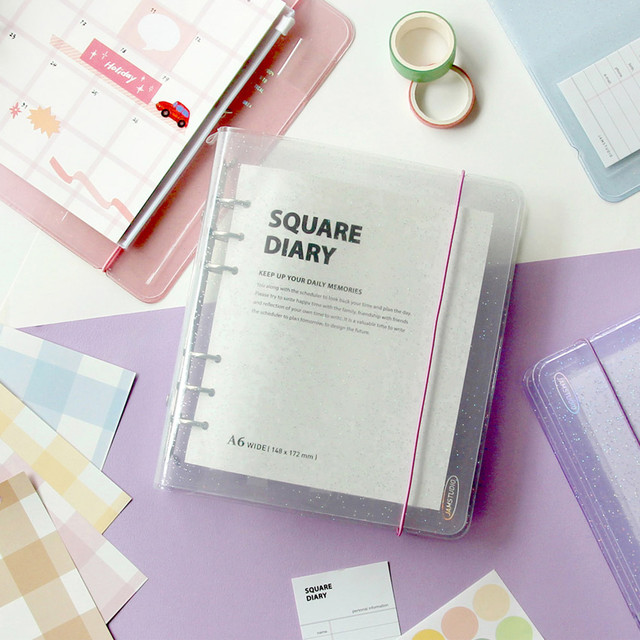 Jam Studio Square 6-ring A6 wide dateless monthly planner