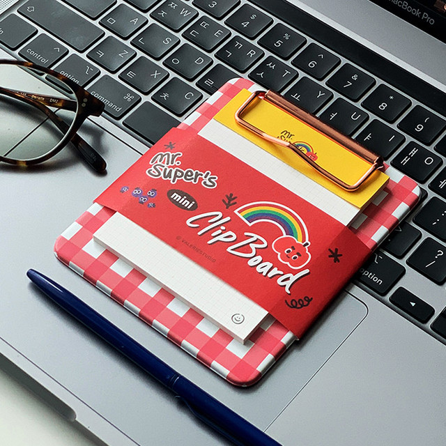N.IVY Mr.super clipboard holder with sticky notepad
