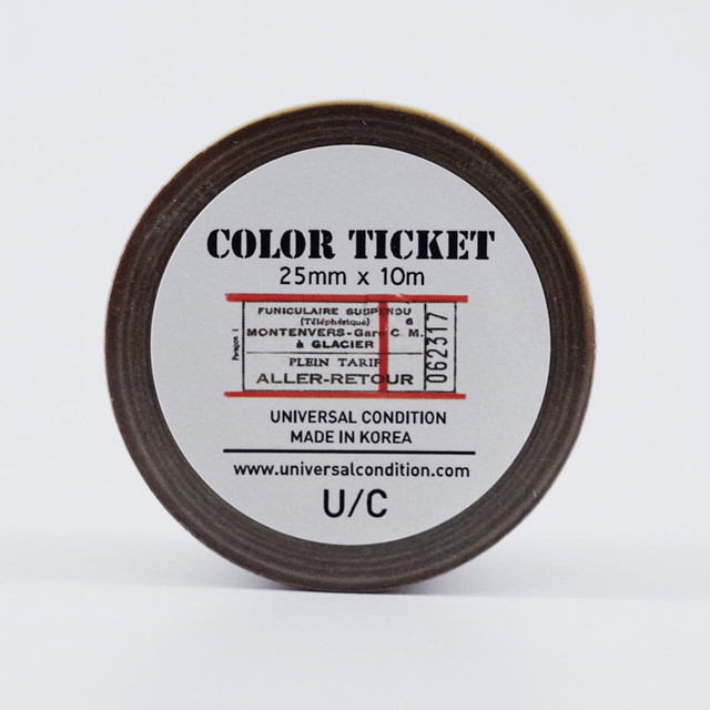 UNIVERSAL CONDITION Color ticket paper masking tape