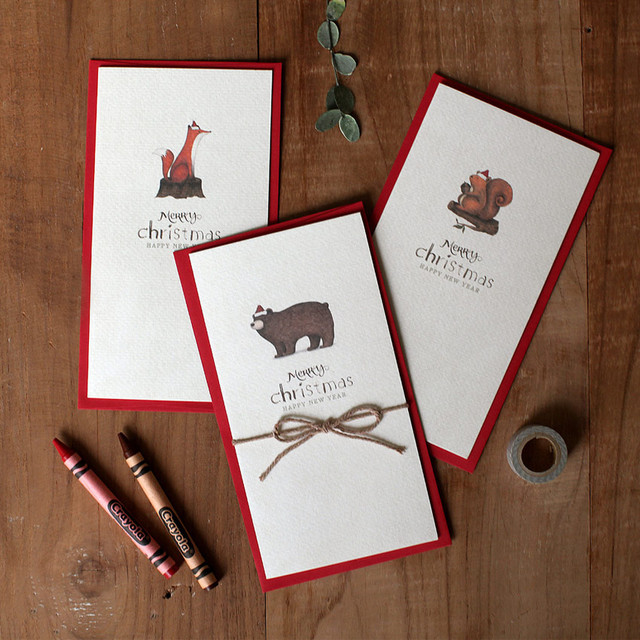 DBD Forest Christmas card with envelope