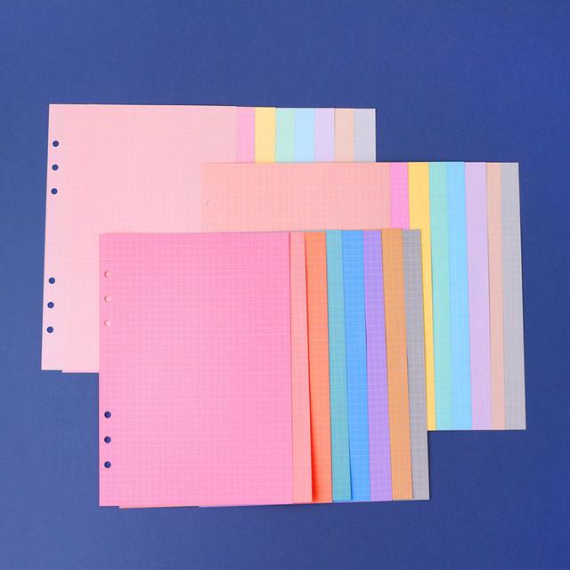 Wanna This Palette grid A5 size 6 holes paper refills set