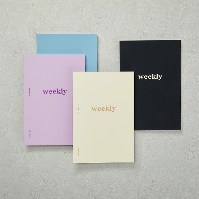 Better together A5 size 6 months dateless weekly planner