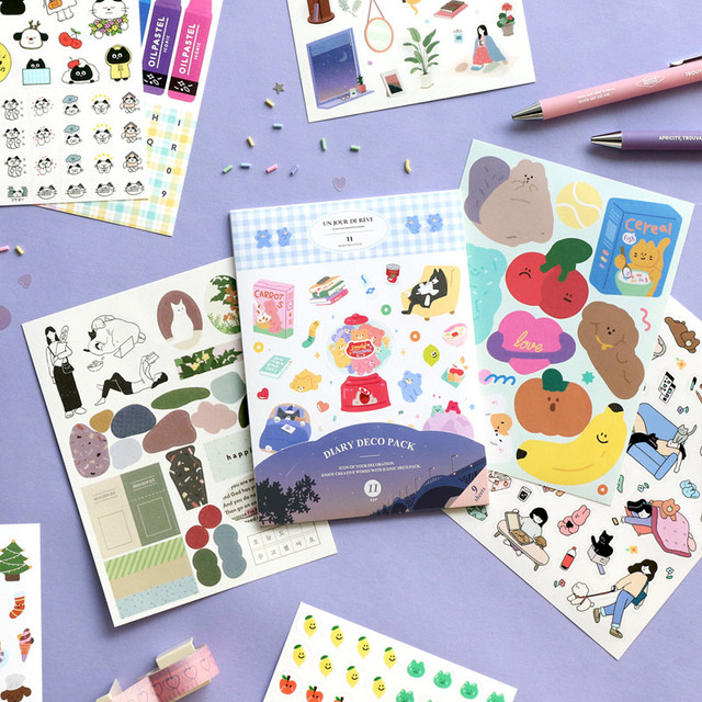 ICONIC Diary deco sticker 9 sheets in one set ver11