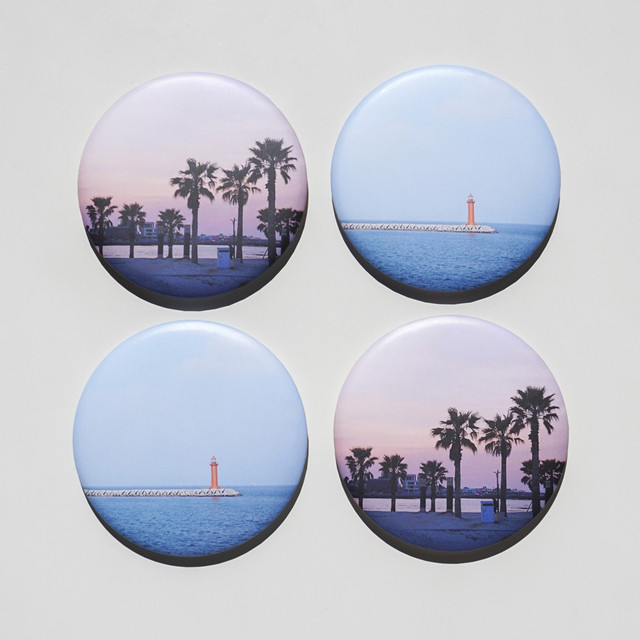 Meri Film Jeju macaron round hand mirror
