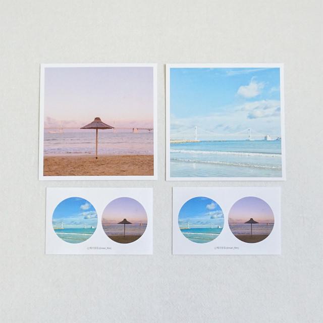 Meri Film Busan Gwanganri postcard and sticker set