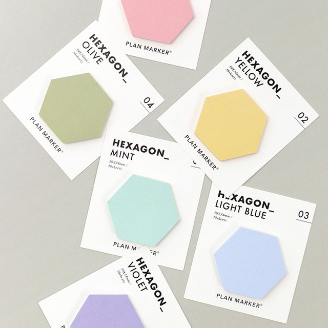 PAPERIAN Hexagon large planner bookmark sticky notepad