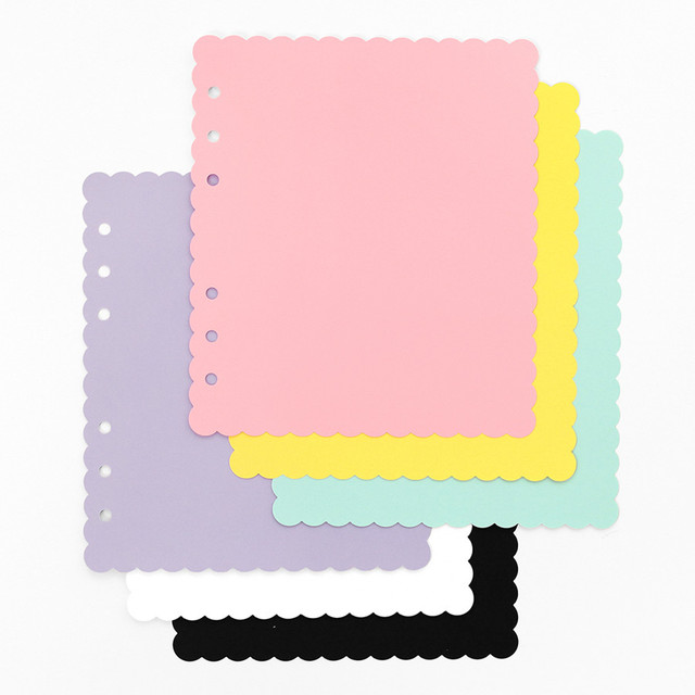 2NUL Biscuit wide A6 6 ring blank note paper refill set