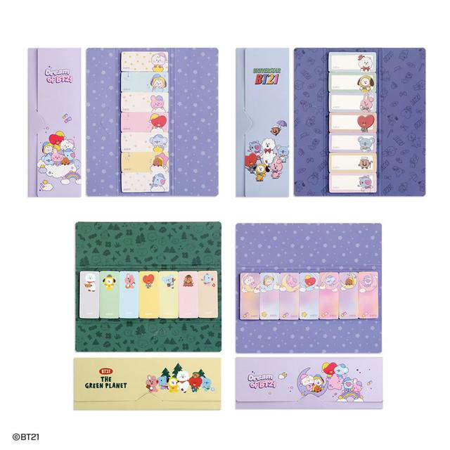 BT21 Sticky index bookmark set