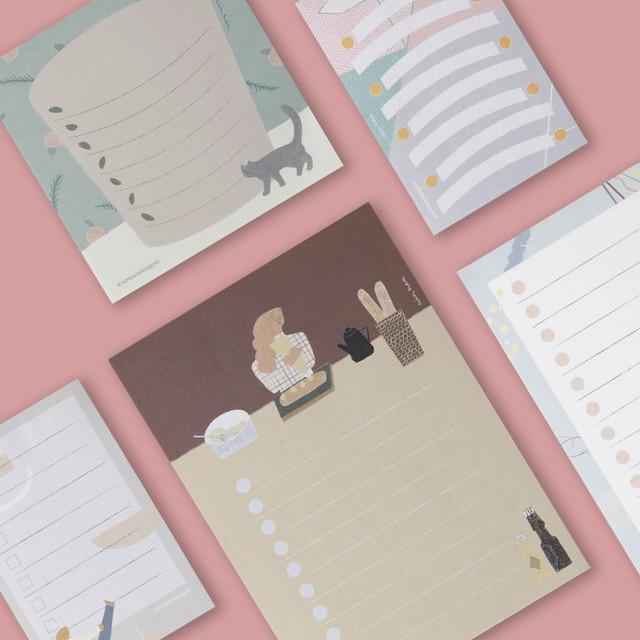 SOSOMOONGOO Sojak5 Happy hobby memo checklist notepad