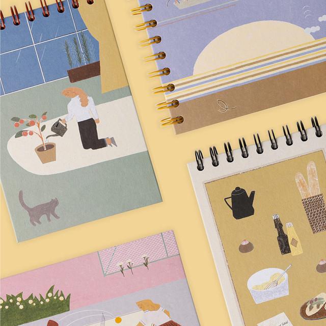 SOSOMOONGOO Sojak5 Happy hobby spiral blank sketch book