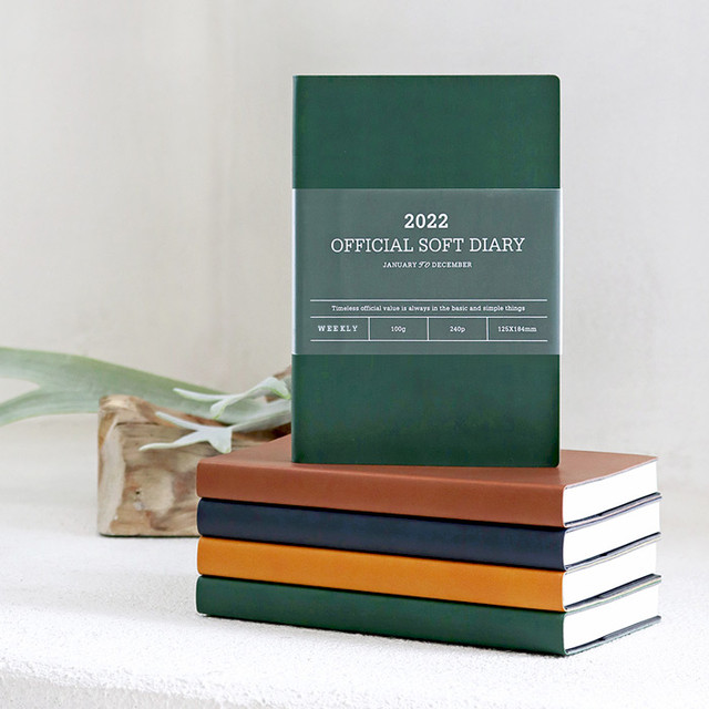 Indigo 2022 Official soft dated weekly diary planner