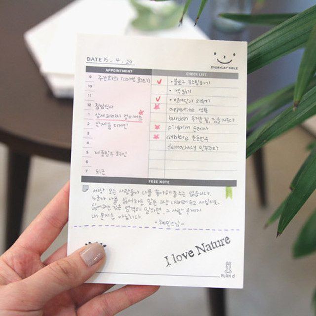 Daily scheduler desk notepad 64 pages