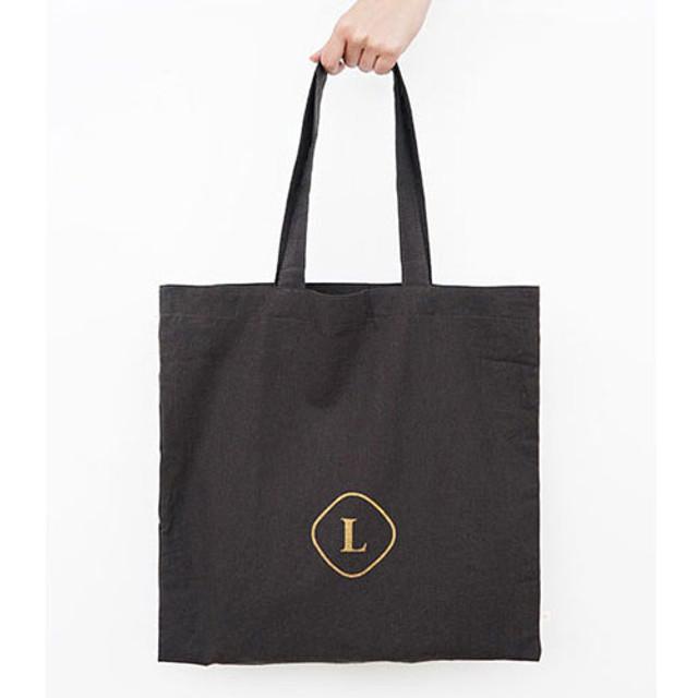 Charcoal - Linen 1 square eco shoulder tote bag