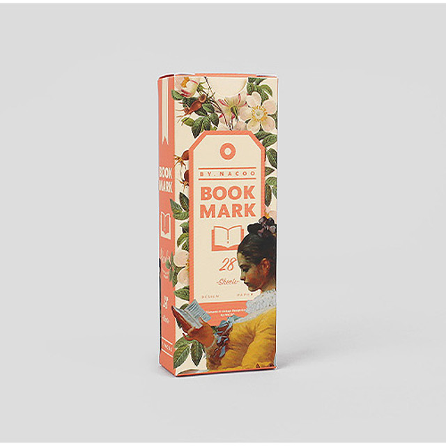 Reading vintage bookmark set